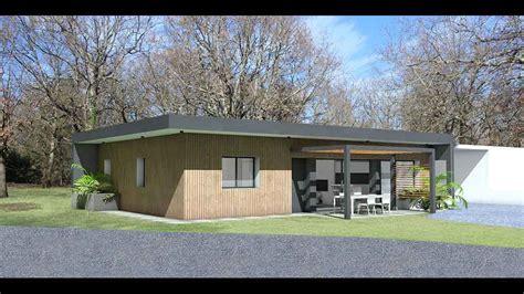 maison d architecte contemporaine economique toit plat et bois