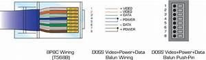 Vppb45pca Passive Video Power Ptz Balun Rj45 Jack