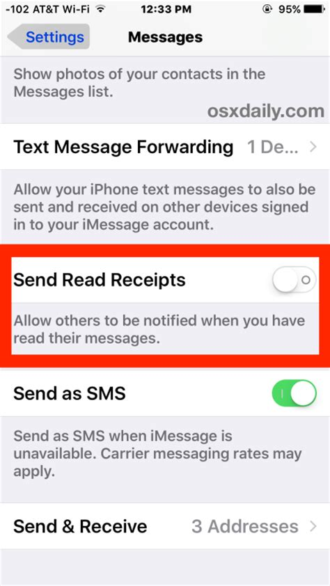 how to turn on imessage on iphone how to turn read receipts in imessage for ios