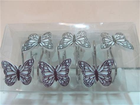 butterfly shower curtain hooks shower curtain hooks fluttering butterflies garden bath