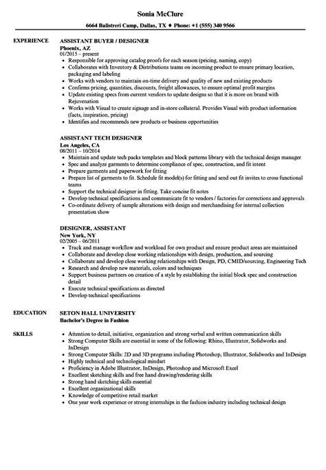 designer assistant resume samples velvet jobs