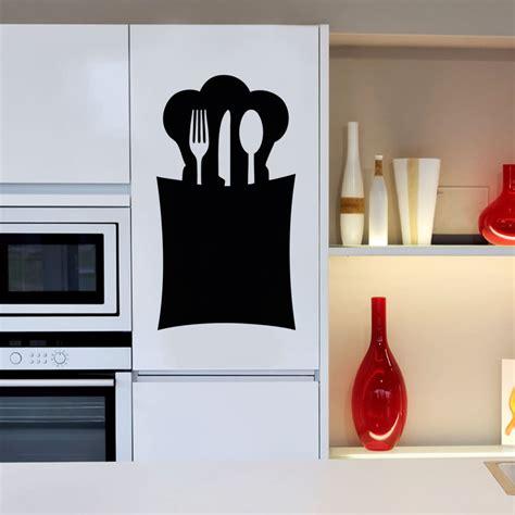 cuisine ardoise design sticker ardoise design range cuillère stickers cuisine