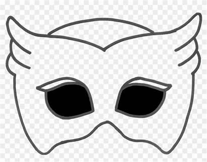 Owlette Mask Coloring Printable Background Transparent Clipart
