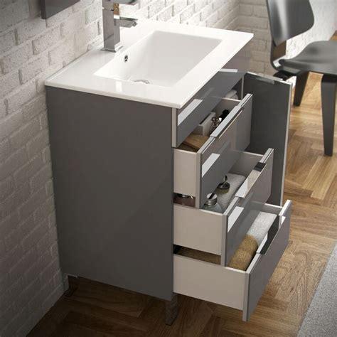 eviva geminis  grey modern bathroom vanity  white