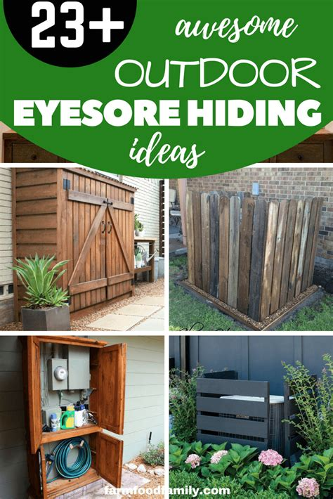 awesome diy outdoor eyesore hiding ideas  beautify