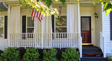 the front porch how to make inexpensive curtain rods for your front porch