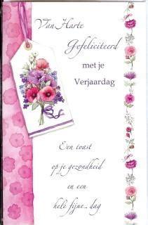 verjaardagskaart met een mooie tekst leuke verjaardags teksten op een wenskaart