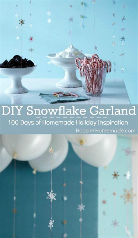 diy snowflake garland homemade holiday inspiration