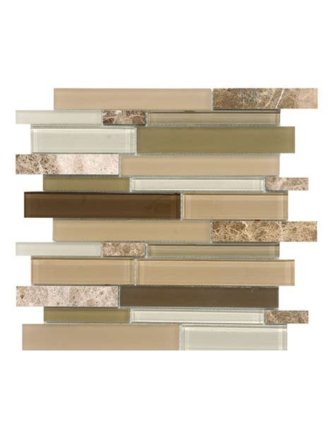 Beige Marble Glass Subway Mosaic Tile   Backsplash.com