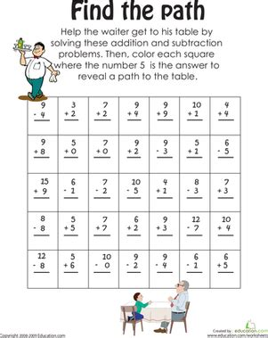 find the math path worksheet education com