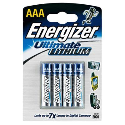 Buy Energizer Lithium 4 Pack AAA batteries from our
