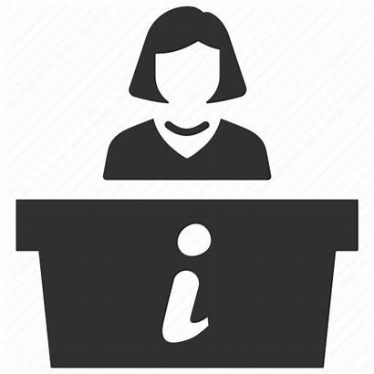 Reception Icon Desk Receptionist Help Icons Workplace