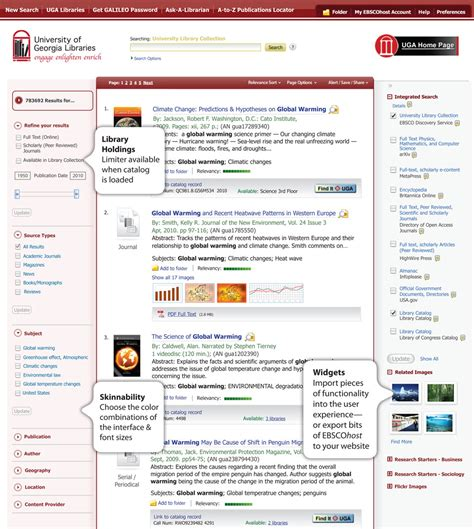 Discovery Search | Features and Functionality | EBSCO ...