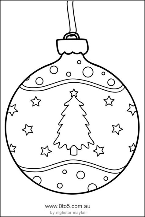 printable ornaments christmas bauble decorated