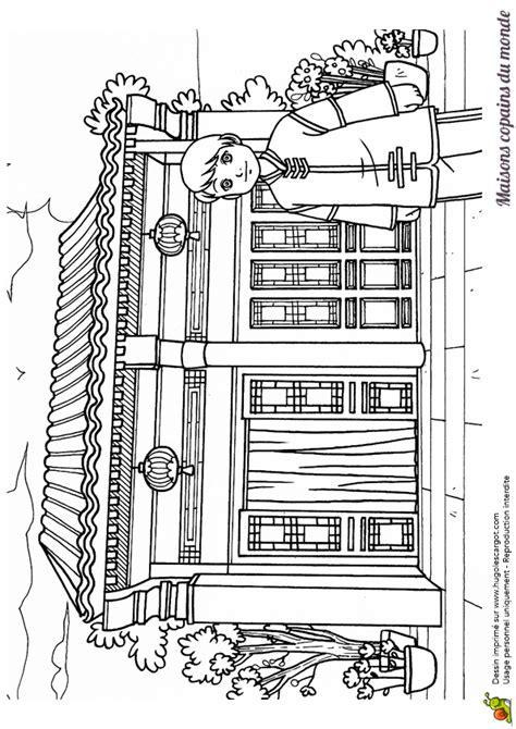 maison de cagne dessin coloriage dessin maison chinoise asie chinois