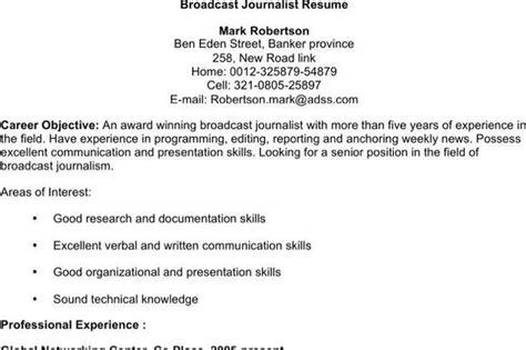 journalist resume templates free premium