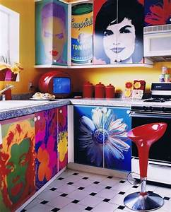 How to create a pop art decor for your kitchen eatwell101 for What kind of paint to use on kitchen cabinets for vintage inspired wall art