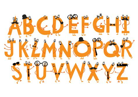character font typeface illustrations on creative market