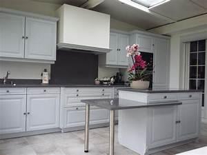 Cuisine Blanche Plan De Travail Gris : jm stone galerie photos ~ Melissatoandfro.com Idées de Décoration