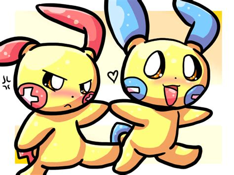 Plusle And Minun By Cduki On Deviantart