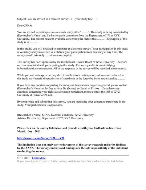 Survey Cover Letter by Survey Cover Letter Exle