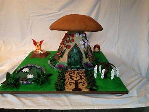 Gingerbread Mushroom Fairy House - CakeCentral com