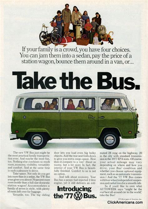 volkswagen thanksgiving volkswagen bus ads 1977 click americana