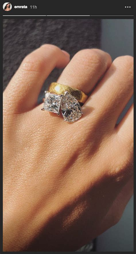 emily ratajkowski gets an engagement ring 4 months after