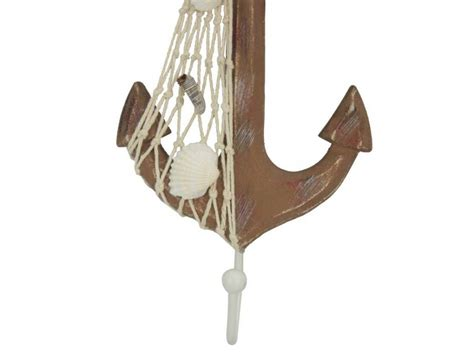 Decorative Anchors by Wholesale Wooden Rustic Decorative Anchor With Hook 7in