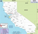 650 Area Code Map, Where is 650 Area Code in California