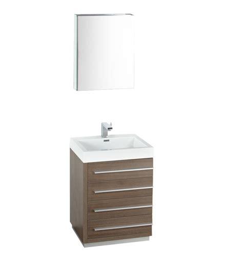 gray oak modern bathroom vanity  medicine