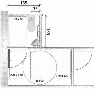 Largeur Porte Pmr : espace de manoeuvre de porte et sanitaires ~ Melissatoandfro.com Idées de Décoration