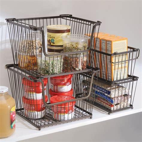 wire storage baskets for kitchen cabinets interdesign york lyra open organizer bin contemporary