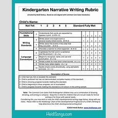Free Common Core Writing Rubrics For Kindergarten  Narrative Writing, Rubrics And Kindergarten