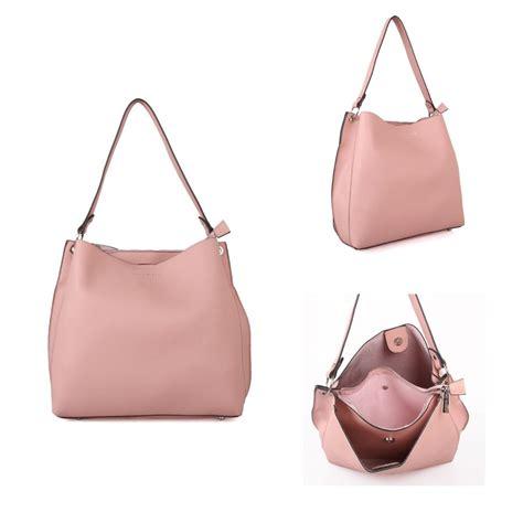 fashionable shoulder bag cuckoo faux leather shoulder bag blush pink