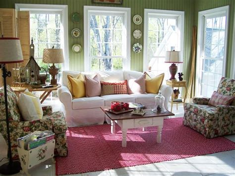 cottage style sunrooms gardens shabby chic  design