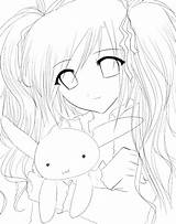 Anime Sad Coloring Pages Cute Characters Template Getdrawings sketch template