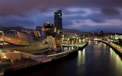 Bilbao Museum Spain Guggenheim Landscape Wallpapers Frank