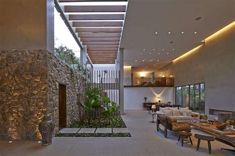 home interior garden open air living room interior design ideas