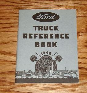 ford   truck owners operators manual reference book