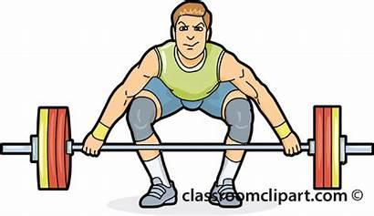 Lifting Weights Clipart Weight Weightlifting Lifter Cartoon
