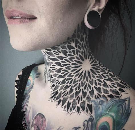mandala neck tattoo  tattoo design ideas