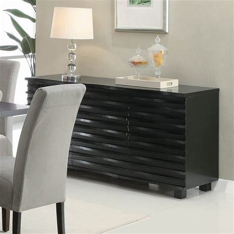 coaster stanton contemporary buffet server  black