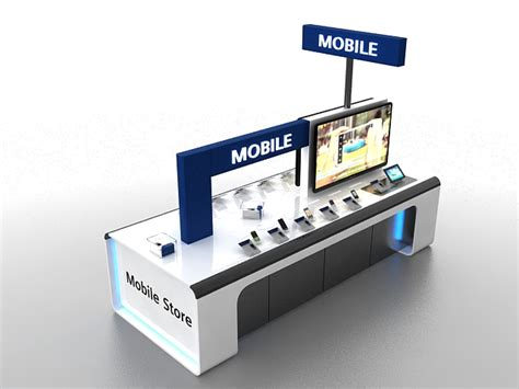 cell phone kiosk me mall cell phone display kiosk 3d model 3ds max files free