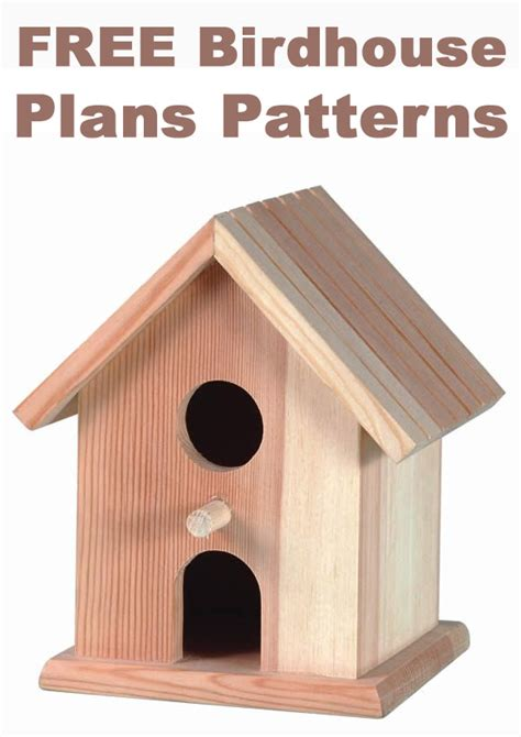 birdhouse plans patterns
