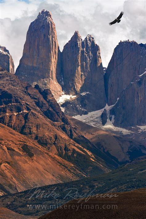 Rio Paine Rapids And Cuernos Del Paine Torres Del Paine