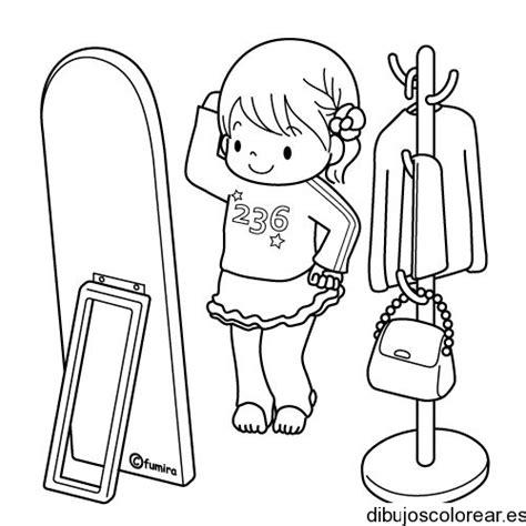 Dibujos para colorear una niña peinandose Imagui