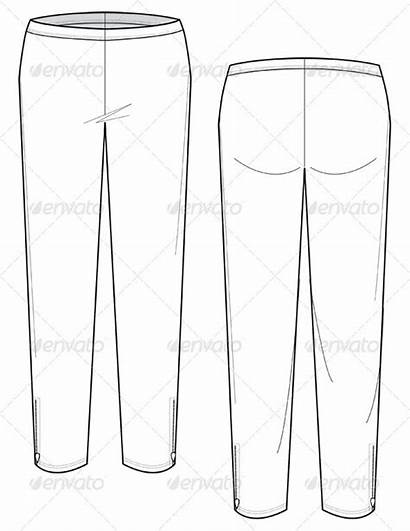 Leggings Flat Sketches Leather Graphicriver Drawings Objects