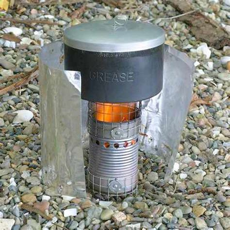 batch loaded inverted  draft gassifier stove