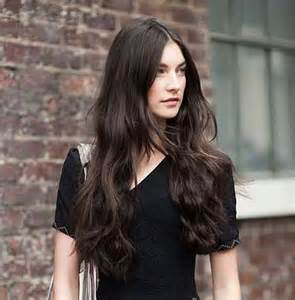Dark Chocolate Brown Long Hair